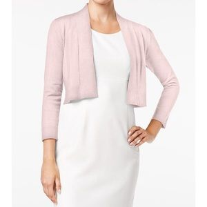 Calvin Klein Light Pink Knit Shrug small d4